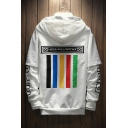 Hip Hop Street Style Fashion Letter Pattern Long Sleeve Sports Loose Hoodie