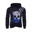 Hot Fashion Butterfly Skull Pattern Long Sleeve Unisex Casual Hoodie