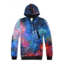 3D Galaxy Pattern Long Sleeve Casual Leisure Unisex Sports Hoodie