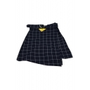 School Girls' Fashion Classic Plaids Pattern Zip Up Side Mini A-Line Skirt