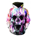 Hot Popular Fashion Digital Skull Pattern Sports Casual Long Sleeve Hoodie