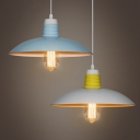 Industrial Pendant Light in Nordic Style with 15.75''W Dome Metal Shade