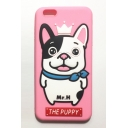 Lovely Color Block Cartoon Puppy Design Mobile Phone Case for iPhone