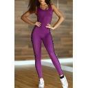 New Stylish Open Back Strapped Side Leisure Tank Jumpsuit