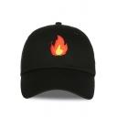 New Stylish Fire Print Outdoor Unisex Baseball Cap