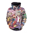 Fashion Digital Cartoon Pattern Long Sleeve Sports Casual Unisex Hoodie