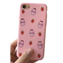 Lovely Cartoon Milk Bottle Printed Mobile Phone Case for iPhone
