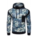 New Fashion Color Block Panel Long Sleeve Hoodie
