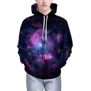 New Arrival Galaxy 3D Printed Long Sleeve Hoodie