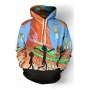 Hot Fashion 3D Cartoon Character Pattern Long Sleeve Casual Hoodie