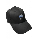 Simple Fashion Cloud Embroidered Baseball Cap