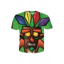 Color Block Bandicoot Tribal 3D Print Short Sleeve Tee
