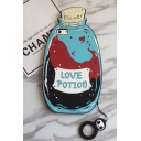 Creative Color Block Love Potion Design Mobile Phone Case with Ring for iPhone