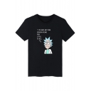 New Fahsion Cartoon Print Round Neck Short Sleeve Top
