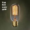 110V T45 E27 40W Edison Bulb