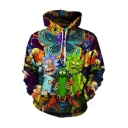 Hot Popular Fashion Cartoon Printed Loose Leisure Long Sleeve Hoodie with Pockets