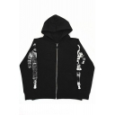 Fashion Astronaut Print Long Sleeve Zipper Unisex Coat