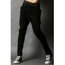 Color Block Elastic Waist Sports Pants