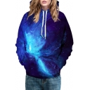Basic Fashion 3D Galaxy Pattern Long Sleeve Sports Leisure Hoodie for Couple