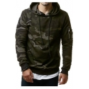 Simple Classic Camouflage Long Sleeve Pullover Hoodie