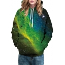 Hot Fashion Digital Galaxy Pattern Long Sleeve Sports Casual Hoodie