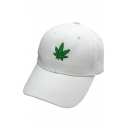 New Stylish Leaf Print Leisure Outdoor Cap for Unisex
