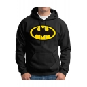 Color Block Cartoon Printed Long Sleeve Hoodie