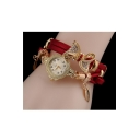 New Fashion Women's Chain Style Watch with Bow Pendant