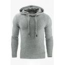 Simple Leisure Jacquard Long Sleeve Pullover Hoodie