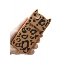 Color Block Leopard Cat Design Mobile Phone Case for iPhone