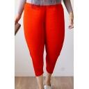 New Fashion Simple Plain Elastic Waist Loose Harem Pants