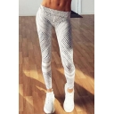 Hot Fashion Stripe Print Elastic Waist Leisure Track Pants