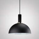 Industrial Pendant Light in Nordic Style Indoor with 15.75''W Dome Shade, Black