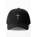 New Stylish Simple Cross Embroidered Leisure Outdoor Cap for Unisex
