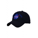 New Trendy Color Block NASA Graphic Embroidered Unisex Baseball Cap
