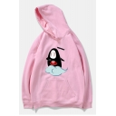 Chic Cute Cartoon Print Long Sleeve Hoodie for Couple