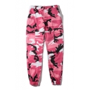 Hip-Hop Stylish Camouflage Zip Fly Flap Pocket Unisex Pants