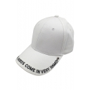 Casual Leisure Simple Letter Pattern Unisex Outdoor Baseball Cap