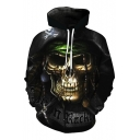 New Fashion Skull Pirate Print Long Sleeve Hoodie