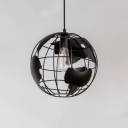 Industrial Orb Single Pendant Light 16