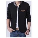 New Stylish Stand-UP Collar Long Sleeve Zipper Jacket
