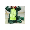Lovely Cartoon Dinosaur Long Sleeve Color Block Pajamas Jumpsuits