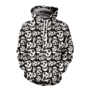 New Fashion Skull Pattern Long Sleeve Hoodie