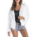 New Fashion Simple Plain Open Front Long Sleeve Cardigan