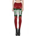 Fashion 3D Christmas Print Elastic Waist Leggings