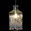 Industrial Pendant Light with Clear Glass Shade