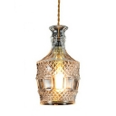 Industrial Pendant Light with 5.12''W Glass Shade