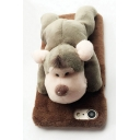 Lovely 3D Donkey Giraffe Monkey Sheep Embellished Furry iPhone Android Phone Case