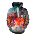 New Fashion Abstract Graphic Print Long Sleeve Hoodie