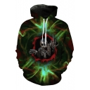 New Fashion Skull Print Long Sleeve Hoodie